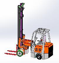 Artifulated Forklift