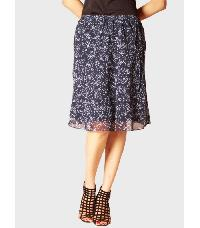 Printed Blue Skirt