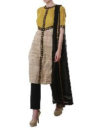 Designer Tasar Silk Kurtis