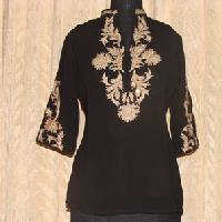 Golden Embroidered Black Tunic