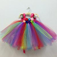 Rainbow Party Tutu Dress For Girls