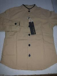 Caballo Boys Shirt With Chinese Collar