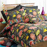 Bengal Indian Floral Cotton Duvet Cover Set