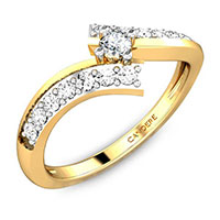 Solitaire Accent Diamond Ring
