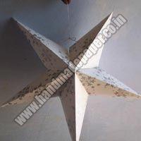 Handmade Paper Hanging Stars