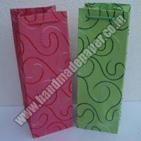 Handmade Paper Wine Bottle Bags