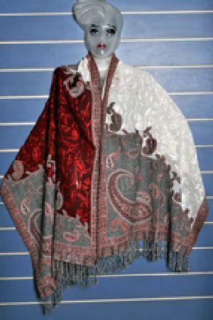 Cashmere Embroidered Wool Shawls