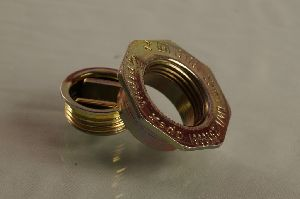 20 mm flange & Bungs set with Gold chromium passivation