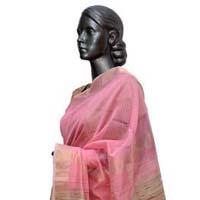 Pink Jute & Zari Maheshwari Silk Saree (design No. S0010)