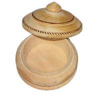 Handicrafted Hand Carved Wooden Traditional Vermilion Kumkum Sindoor Sindooram Box - A0759