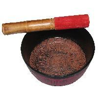 Tibetan Singing Bowl Buddhist Design Singing Bowl - A4439