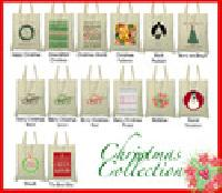 Cotton Canvas Christmas Bags