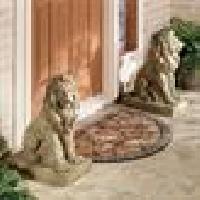 Lions at Guard Sculpture Pair