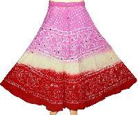 Cotton Bandhani Skirts