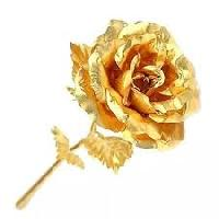 24 Carat Gold Plated Natural Rose