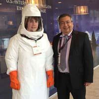 Type 4/5/6 Ppe Full Body Hazmat Suit for Biological Hazards