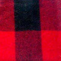 Woolen Shoddy Check Fabric