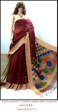 Exclusive Line Jamdani Saree