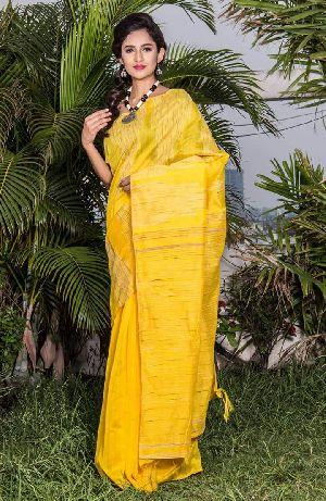 Silk Cotton Ghicha Jamdani Saree