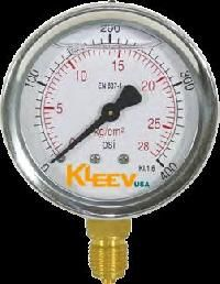 Stainless Steel Brass Connection Gauge