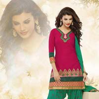 Stylish Fancy Ethnic Cotton Salwar Kameez