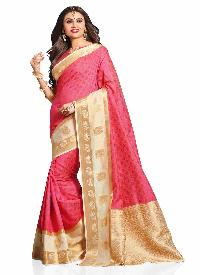 Beige Colour Art Tussar Silk Woven Saree