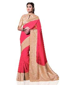Beige Kanchipuram Spun Silk Woven Saree