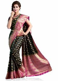 Black Woven Art Silk  Saree