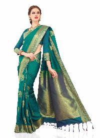 Meghdoot Green Colour Art Silk Woven Saree