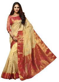 Red Colour Art Tussar Silk Saree