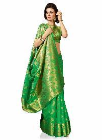 Green Art Tussar Silk Traditional Woven Saree