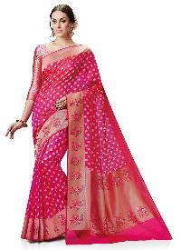 Meghdoot Pink Colour Kanchipuram Spun Silk Woven Saree
