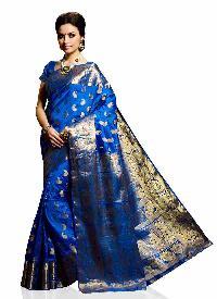 Royal Blue Colour Traditional Art Silk Woven Saree