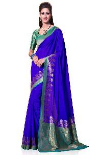 Green Colour Kanchipuram Spun Silk Woven Saree