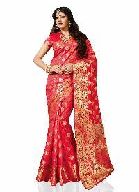 Pink Traditional Art Silk Saree