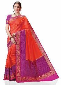 Meghdoot Pink Traditional Kanchipuram Spun Silk Woven Saree