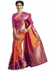 Pink Colour Art Tussar Silk Woven Saree