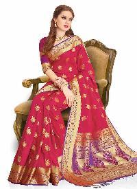 Purple Colour Woven Traditional Art Silk Saree