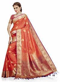 Purple Woven Art Silk  Saree