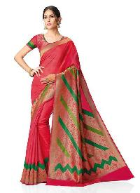 Meghdoot Red Kanchipuram Spun Silk Woven Traditional Saree