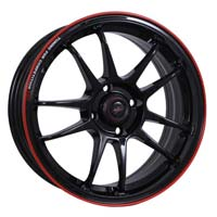 15'' 100x4 Rl-black Automotive Wheels