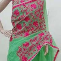 Designer Plain Cotton Saree