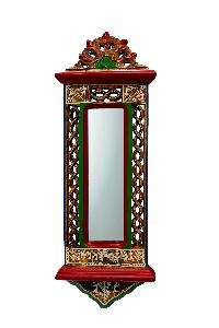 Jharokha Mirror With Intricate Warli Work And Perforated..