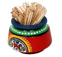 Red Toothpick Holder