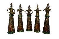 Set of 5 Fairy Musicians Cum Tea Light Holders ( 14 Inches Tall)