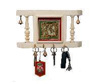 Six Bells White Key Ring Holder
