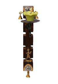 Warli & Dhokra Candle Stand ( 12 Inch )