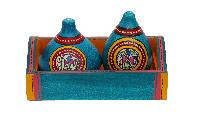 Warli Painted Earthen Salt N Pepper Shaker