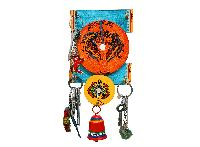 Warli Work Bell Double Plate Key Ring Holder