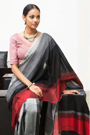 Handloom Pure Khadi Jacquard Saree